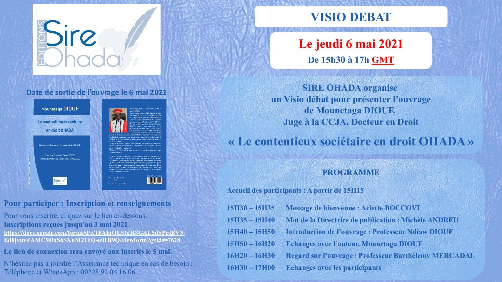 Visio débat «Le contentieux sociétaire en droit OHADA»