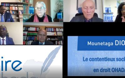 """Visio Débat """"Le contentieux sociétaire en droit OHADA"""" (VIDEO)"""